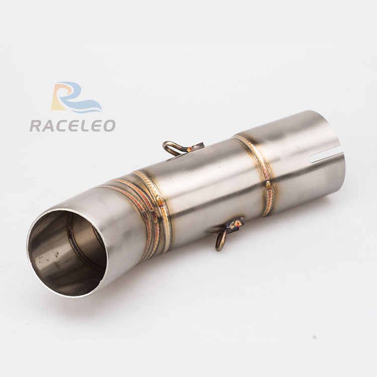 Motorcycle Exhaust Muffler stainless steel Pipe Middle muffler Connector Link Pipe Tube for FZ8 link pipe FZ800 mid pipe fz800n