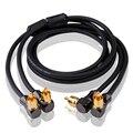 Audio Kabel 2 Winkel RCA zu 2 Winkel RCA TV DVD Lautsprecher Subwoofer Verstärker OFC RCA Kabel OFC Geflochtene 1 mt 2 mt 3 mt 5 mt 1 5 mt 0 5 mt 0 75 mt auf