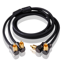Audio Cable 2 Angle RCA to 2 Angle RCA TV DVD Speaker Subwoofer Amplifier OFC RCA Cable OFC Braided 1M 2M 3M 5M 1.5M 0.5M 0.75M