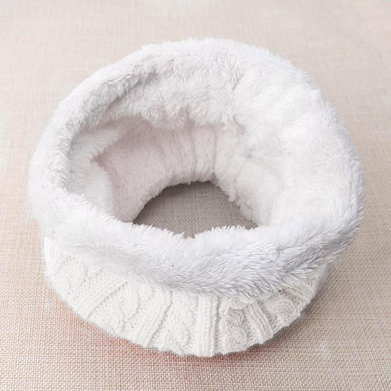 Зимний шарф для женщин, мужчин, детей, утолщенный шерстяной воротник, шарфы для девочек, шейный шарф, хлопок, унисекс, вязаный шарф-кольцо - Цвет: N
