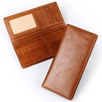 Ruil 2017 New Wallet Designer Retro Casual 100 Genuine Cow Leather Men Long Wallets Coin Dollar