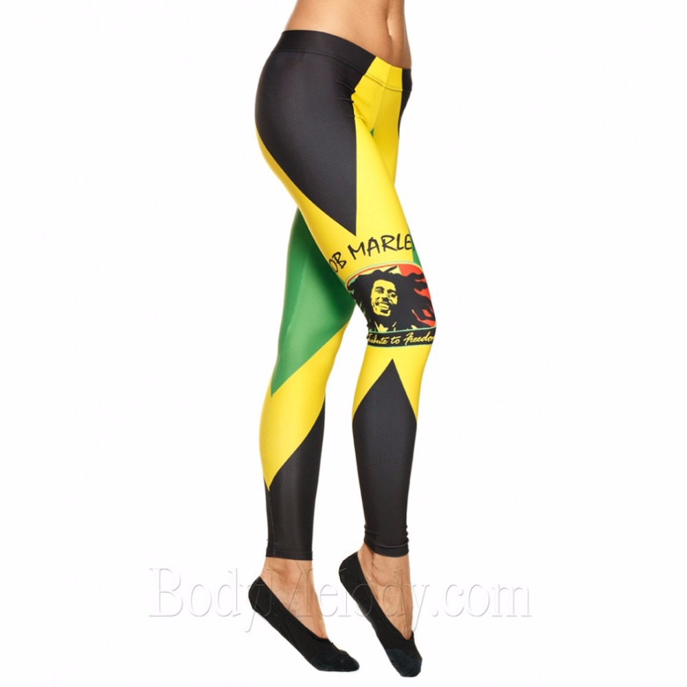 Tengo Causal   Leggings   Womens Fashion Print   Leggings   Pants Disco Pants   Legging   Feminino Ropa Mujer Jeggings Bob Marley   leggings