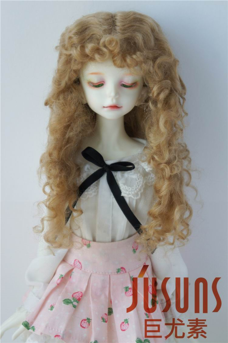 D28002 1/6 1/4 Curly BJD Mohair doll wigs YOSD MSD pretty soft long curly wig 6-7inch 7-8inch fashion doll accessories bjd sd doll wigs soom photon minifee chloe male female dolls black long wig 3 1 1 6 immediately shipped