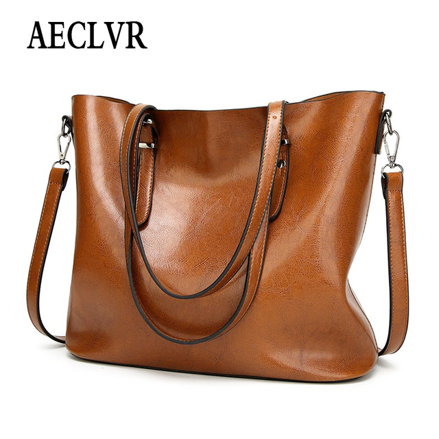 AECLVR Fashion Casual Lager Shoulder Bag Women Tote Bag Solid Soft PU Leather Handbag Ladies Beauty Crossbody Bag Versatile Bag