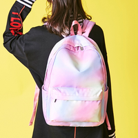 New Girls Backpack Waterproof Polyester Bag Hit Color Small Fresh Backpack High School Students Casual Backpack