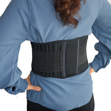 Lower Back Support Corset On the Lumbar Spine Back