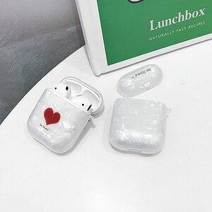 Image 4 - かわいい大理石魚スケールシェルパターン装飾保護ケース apple の Airpods1/2 Bluetooth 落下防止イヤホンカバー