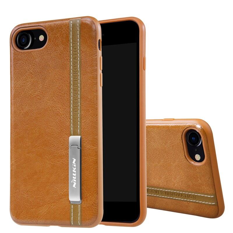 imágenes para Nillkin para el iphone 7 case pu de cuero de la vendimia de la contraportada para cubierta de la cubierta 4.7 ''soporte iphone 7 trabajar con soporte para teléfono magnética
