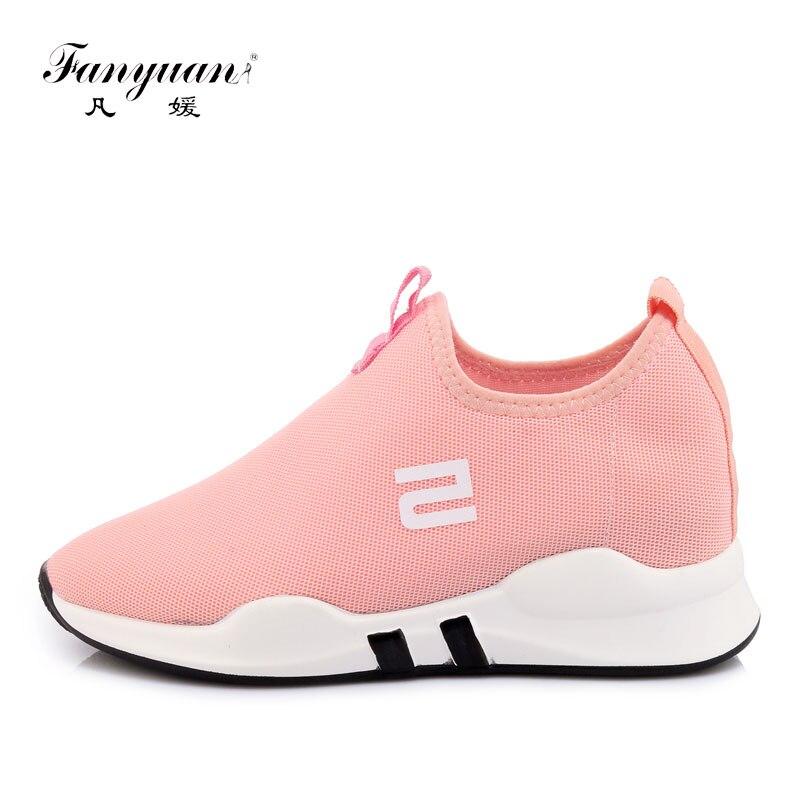 Fanyuan Grande Taille 29-45 Chaussures de Plein Air Femmes Chaussures de Marche décontracté espadrilles Formateur Respirant Chaussette Chaussures Léger Noir