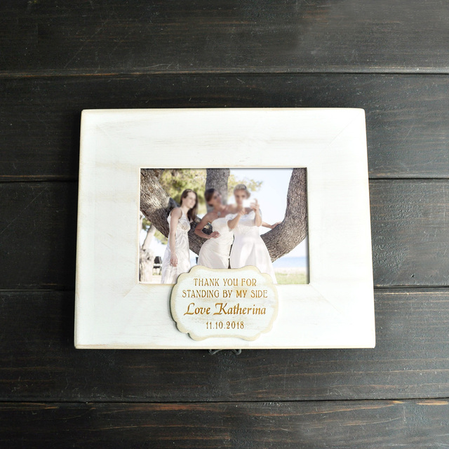 Personalized Photo Frame Custom Bridesmaid Picture Frame Wedding