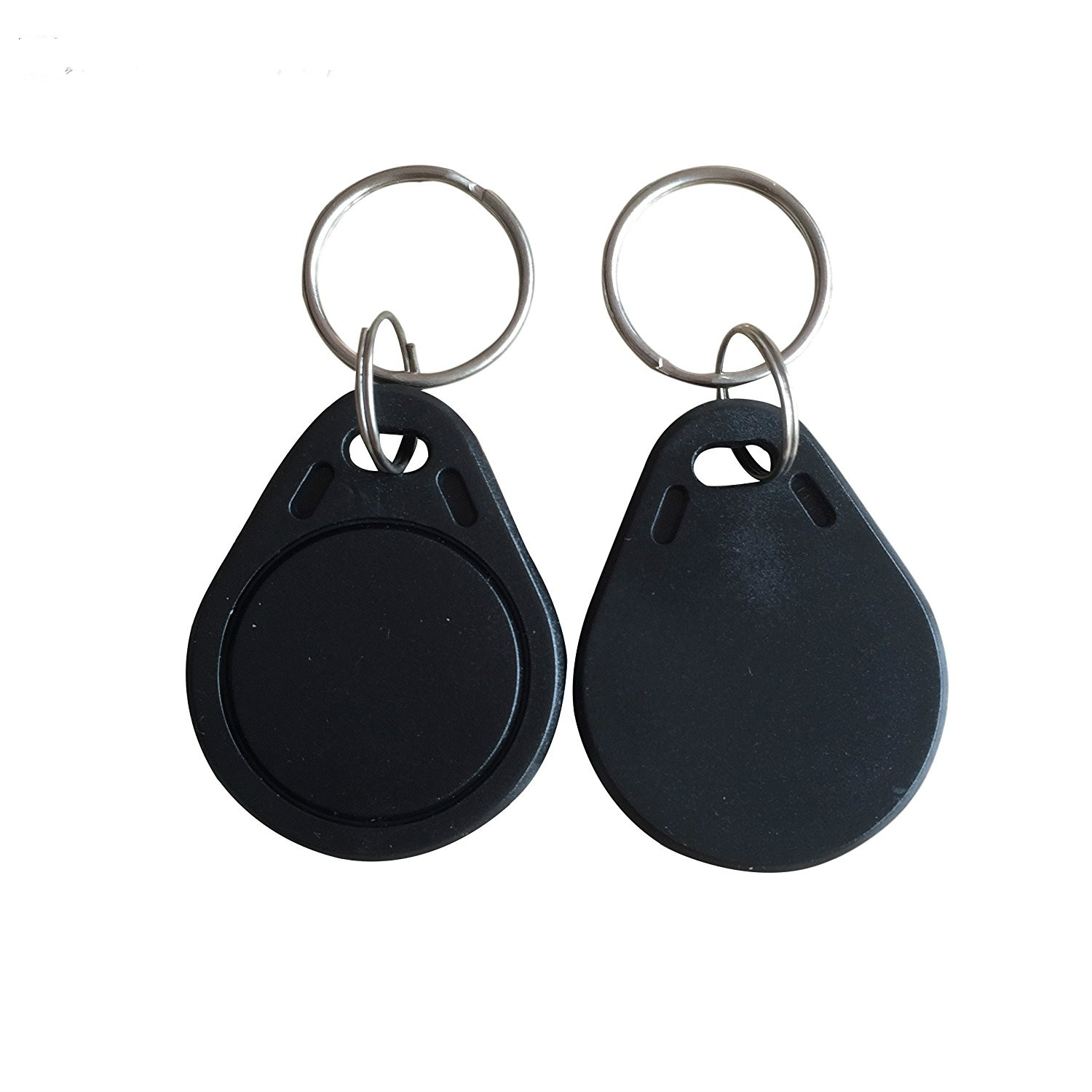 13.56MHz RFID Keychains ISO14443A RFID MF Classic 1K Keyfobs NFC Tag Black Colour key token for access control system 100PCS new design rfid ic keyfobs i3 56 mhz keychains nfc key tags iso14443a rfid mf classic 1k tag for smart access control system