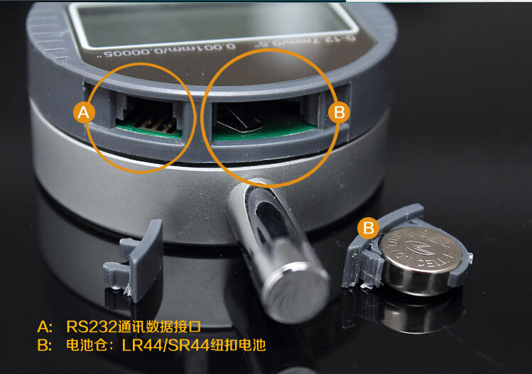 12,7 mm-es elektronikus tárcsamérő 0,01 mm-es digitális tárcsa - Mérőműszerek - Fénykép 2