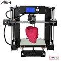 Легко Собрать Anet A6 и A8 3d Принтер Большой Размер Высокой Точности Reprap Prusa i3 DIY 3D Печатная Машина + Очаг + нити + SD Card + LCD