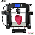 Fácil de montar anet a6 & a8 3d impressora de grande tamanho de alta precisão máquina de impressão + viveiro reprap prusa i3 diy 3d + filamento + cartão sd + lcd