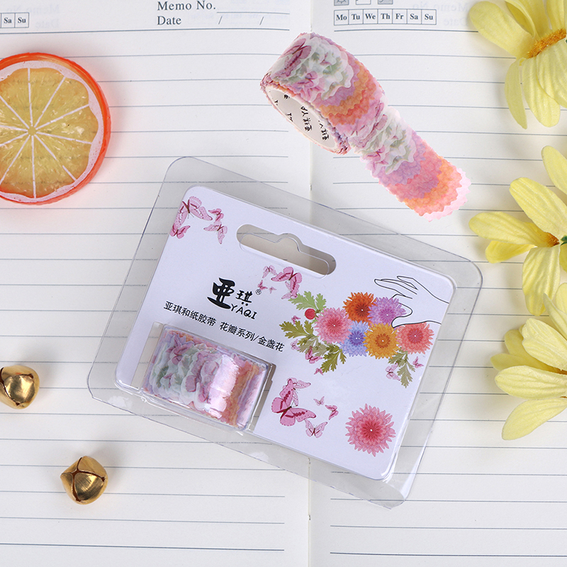 Analytical 200pcs/roll Fresh Marigold Clover Stamp Decoration Diy Diary Scrapbooking Masking Tape Stickers Beautiful Stationary For Student Tapes, Adhesives & Fasteners