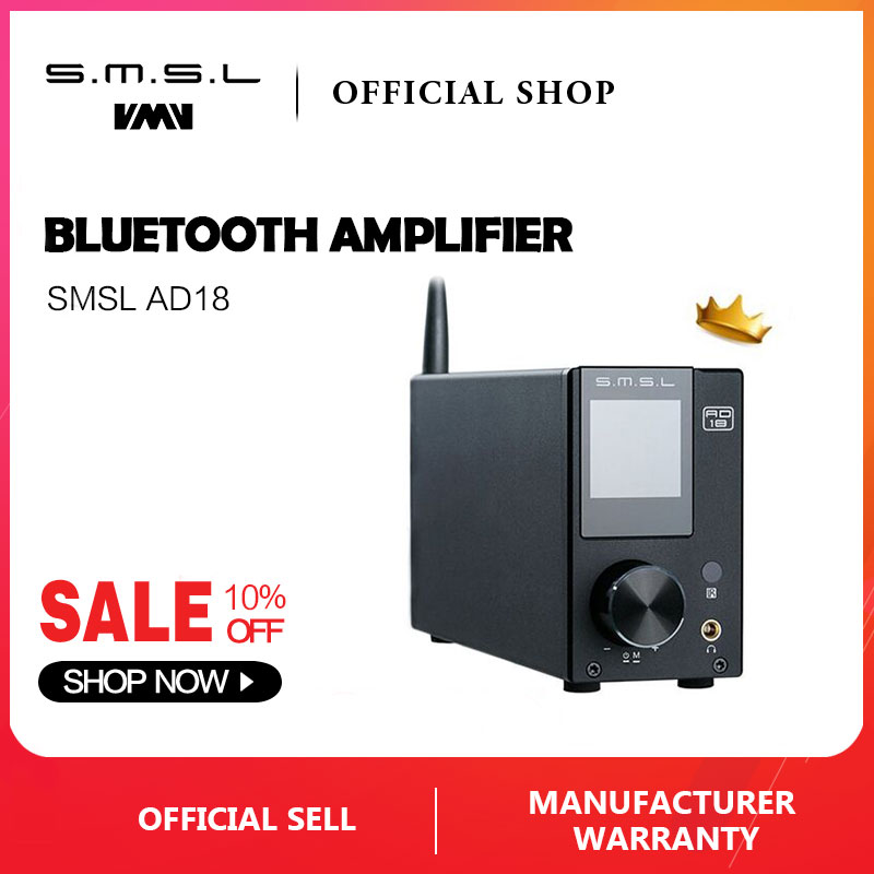 SMSL AD18 HIFI amplificador estéreo de audio con Bluetooth 4.2 - Audio y video casero