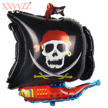 XXYYZZ Halloween Pirate Ship Foil Balloons Children Birthday Cartoon Helium Ballons Inflatable Toys Wedding Decoration Party the avengers toys baloon ballons helium foil balloons party supplies superhero birthday party decoration avengers balloons