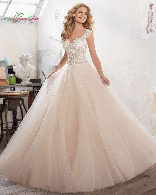Dream Angel Luxury Sweetheart A Line Wedding Dress 2017 Sexy Backless Appliques Beaded Sashes Vintage Vestido De Noiva Plus Size