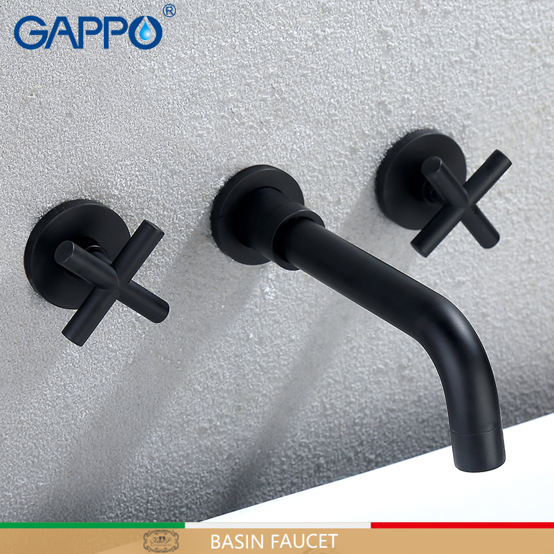 GAPPO basin Faucets wall mounted basin faucet black bathroom water mixer tap wall faucet bathroom basin mixer the pencil