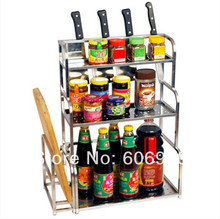 Three-layer Eco-friendly Kitchen Household Standing Type Stainless Steel Super Capacity Dish Rack Y041