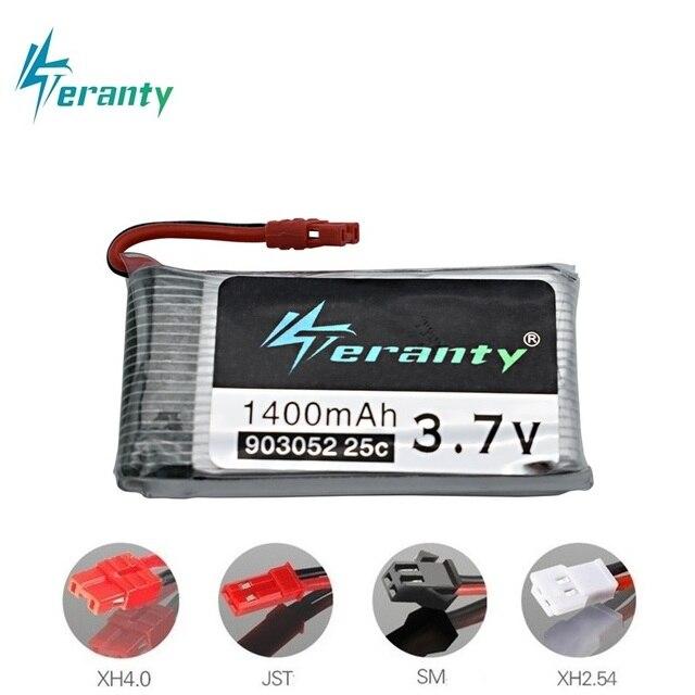 3.7V Chargeur de Batterie Lipo Ensembles pour Syma X5 X5C X5SW X5SC X5S X5SC-1 M18 H5P RC quadrirotor 1400mAh 903052 3.7V batterie