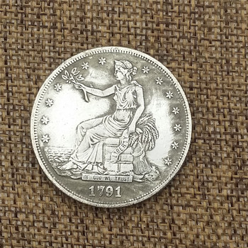 1791 of the United States makes old copper and silver coins, foreign silver coins, antique coins, and the diameter is 38MM