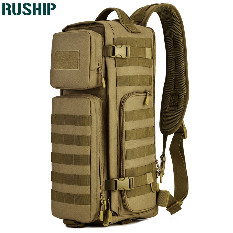 Hunting Chest Sling Back pack Men Bag One Single Shoulder Man Large Travel Military Back packs Molle Bags Outdoors Rucksack string sling pack
