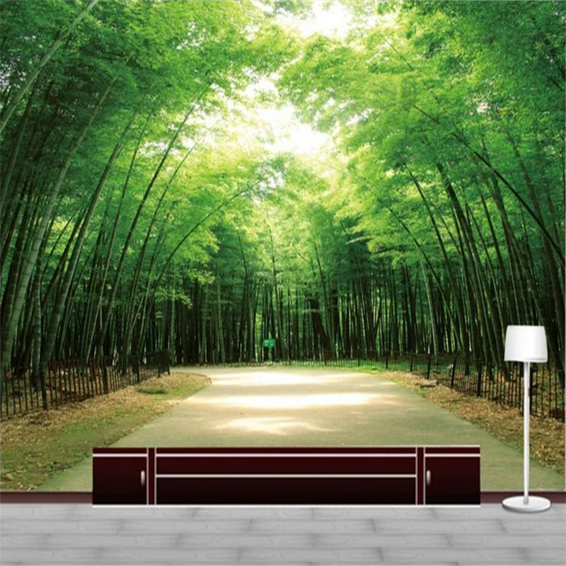 3 d Home Decor Custom Wallpaper for Living Room TV Background Wall Decor Photo Wall Mural Bamboo Landscape Forest Wallpaper wallpaper for walls 3 d modern trdimensional geometry 4d tv background wall paper roll silver gray wallpapers for living room