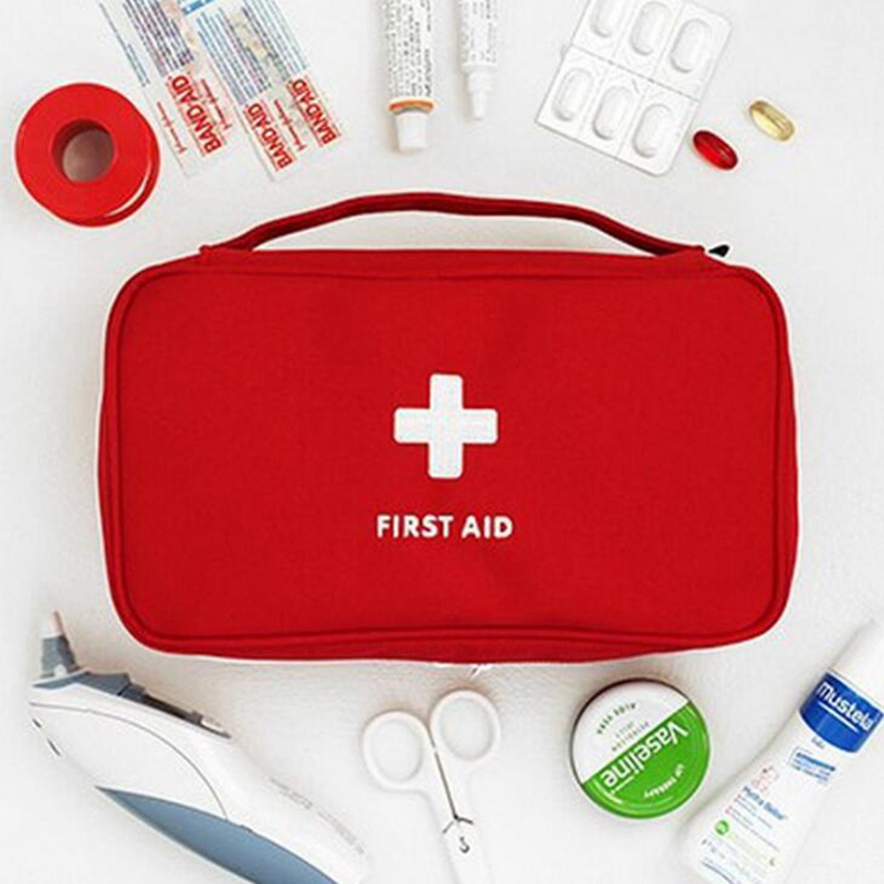 Portable First Aid Kit Creative Travel Accessories Emergency Drug Cotton Fabric First Aid Medicine Bag Pill Case Splitters Box цена