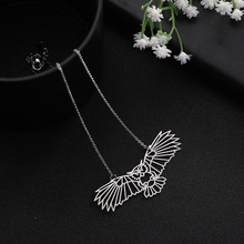 My Shape High Quality Stainless Steel Hollow Owl Animal Pendant Unisex Necklace цена 2017
