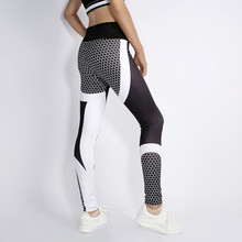 Women Mesh Pattern Fitness Leggings Legging Women Sporting Printed Workout Leggings For Women Elastic Trousers Slim Black Pants