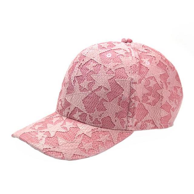 891b58f3796 Spring Summer Outdoor Sun Cotton lace Casquette ny Unisex Men Women  Baseball Cap Snapback Casual Solid Adjustable Hat with star