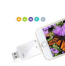Noticias! i-flash conductor hd u-disco de datos del relámpago para el iphone/ipad/ipod, interfaz micro usb flash drive para pc/mac 512 gb/16g/32g/64g