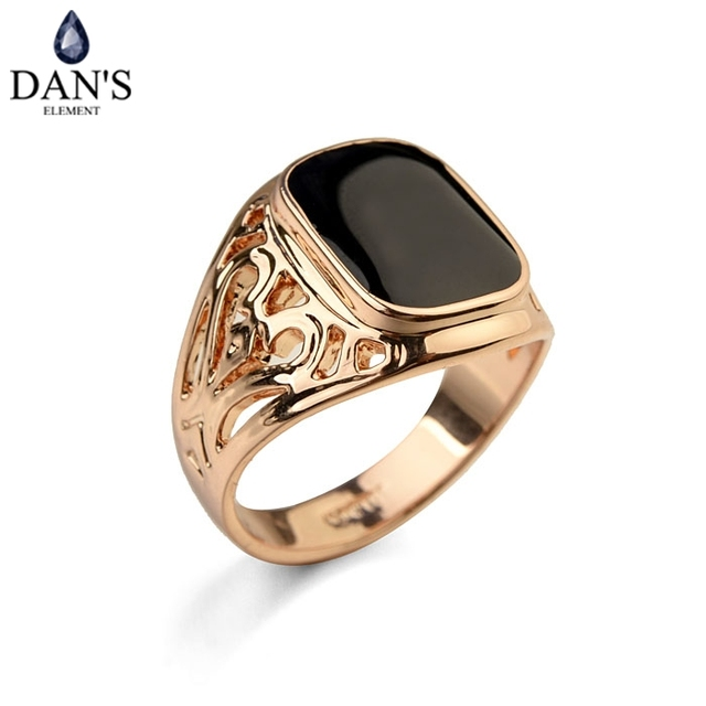 Dan's Element Luxury Brand Vintage Enamel Rings for men wedding Party New Fashio