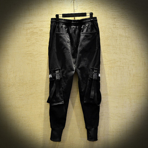 Image 5 - 2020 nuovi Uomini di Modo Pantaloni Stile Harem Hip Hop Fibbie Cinturino Jogging Streetwear Casual Strappato I Pantaloni Cargo Pantaloni ABZ367