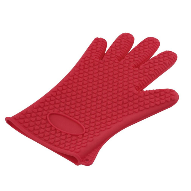 1pcs Heat Resistant Silicone Glove Cooking Baking BBQ Oven Pot Holder Mitt  Kitchen Red Hot Search