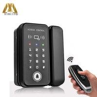 Glass Door Lock Wood Doors Fingerprint Door Lock For Home Office Anti theft Security Remote Control Smart Electric Lock XM R1