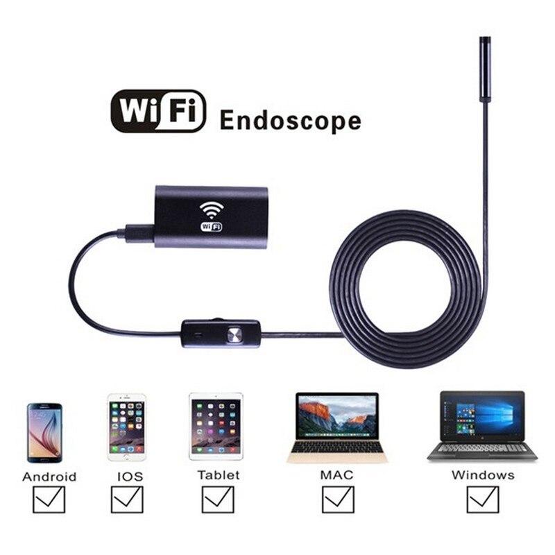 HD 8 мм Объектив Водонепроницаемый КОМПЬЮТЕР Андроид Эндоскоп Камера с 5 м Кабеля Ручной Осмотр Бороскоп Автомобиля для Android Телефона Tablet PC