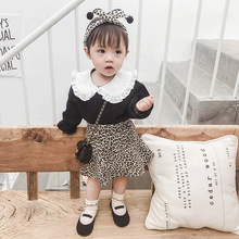 2019 Spring New Girl Lace Shirt &skirt 2-piece SETS Ins Hot Sale Baby Clothes  Kids Girls White Skirt