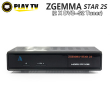 5 unids Original Zgemma estrella 2 S receptor de satélite con gemelo DVB-S2 sintonizador Enigma sistema Linux Zgemma-star 2 S