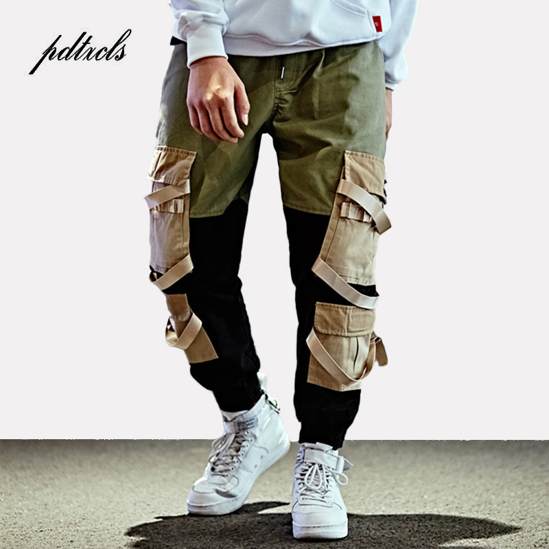 Hip Hop Pantaloni Cargo Uomo Streetwear Baggy Pantaloni stile harem  Patchwork Multi Tasca Dei Pantaloni Casual Tatical Pantaloni Swag Nastro  Harajuku in Hip ... b879b7a705d7