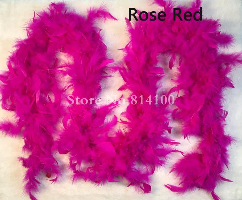 80g Boa di piume Costume Accessorio Viola Nero Rosa Bianco Rosso