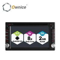 Ownice 4G SIM LTE Android 6.0 Octa Core 2G RAM Auto Universale Radio Auto Lettore Dvd 2 Din In Dash GPS Stereo Testa unità