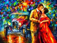 Newest diy diamond drawing oil painting pattern kit for embroidery rhinestones full drill car lover landscape wedding decoration