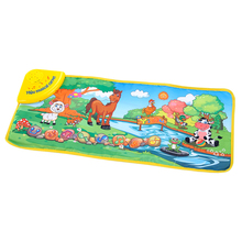 YiQu Musical Learning Mat Colorful Animal Farm Play Mats Baby font b Toys b font Music