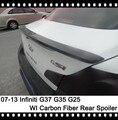 Infinti G35 G25 G37 Sedan Spoiler de fibra de carbono tronco Spoiler traseiro bota Spoiler Nisssan Skyline 350GT 370GT 250GT tronco tampa