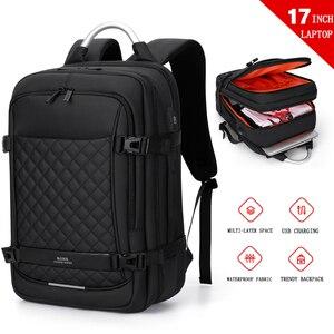 "Image 2 - Fenruien 남자 확장 가능한 배낭 대용량 다기능 15.6 ""노트북 배낭 방수 USB 충전 여행 배낭"