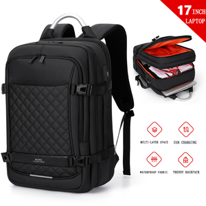"Image 2 - Fenruien Men Expandable Backpack Large Capacity Multifunctional 15.6""Laptop backpacks Waterproof USB charging travel backpacking"