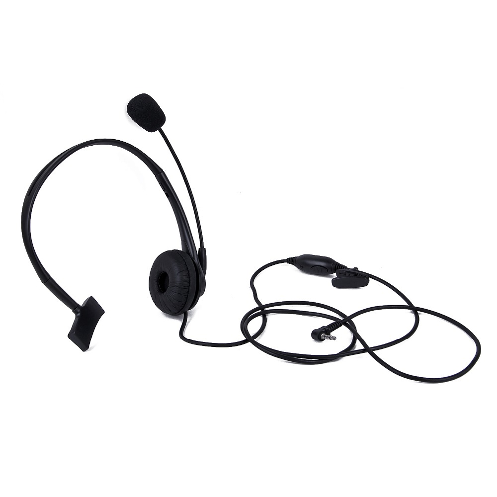Black 1 Pin 3.5mm Y Head Microphone Headset For Yaesu Vertex Radio VX-1R, VX-2R, VX-3R, VX-5R Etc