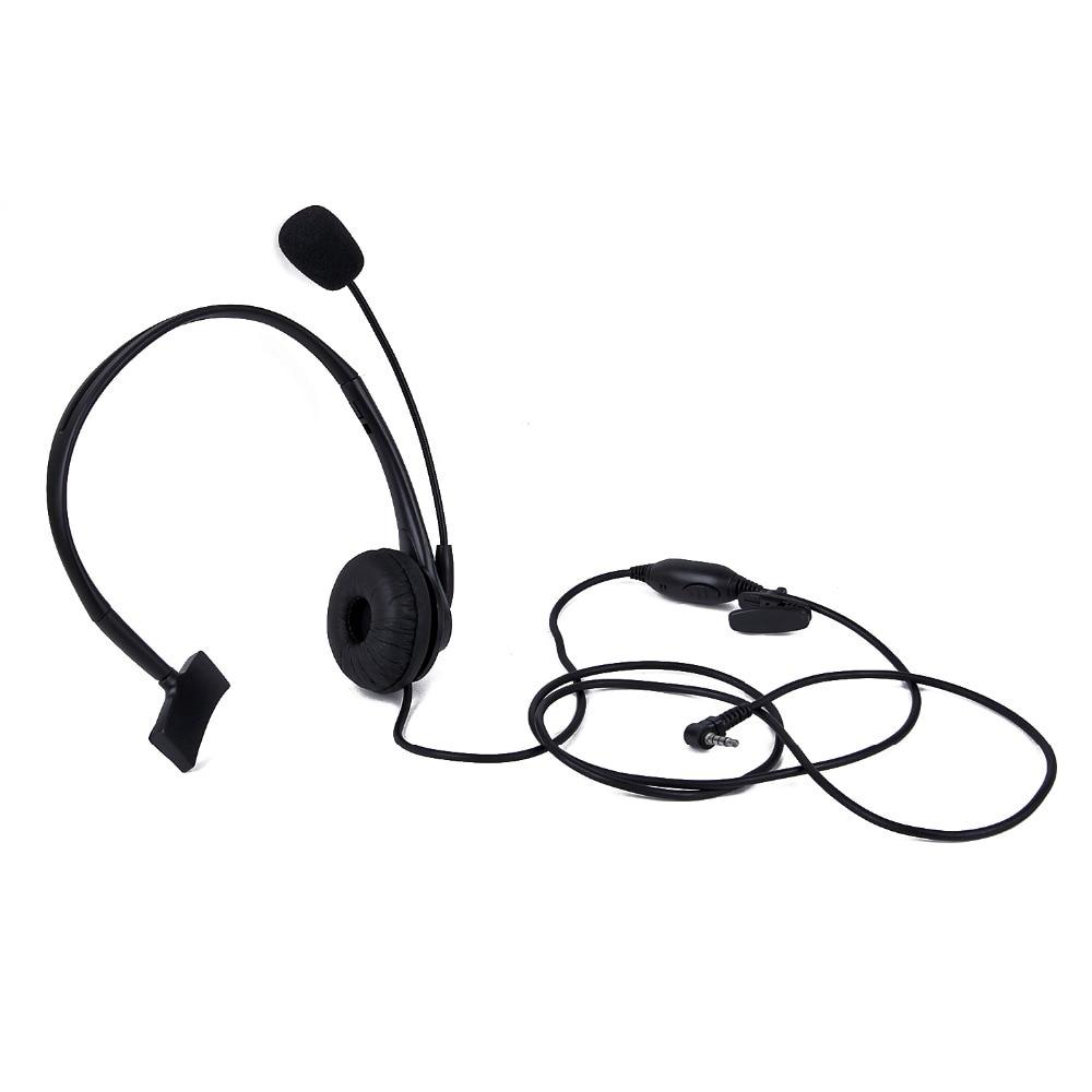 Black 1 Pin 3.5mm Y Head Microphone Headset For Yaesu Vertex Radio VX-1R, VX-2R, VX-3R, VX-5R Etc